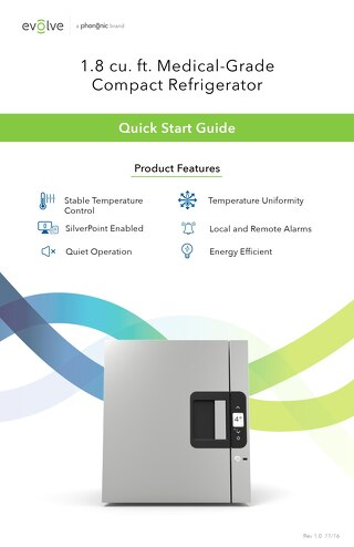 Medical-Grade Countertop Refrigerator Quick Start Guide